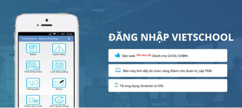 phần mềm quản lý giáo dục VietSchool