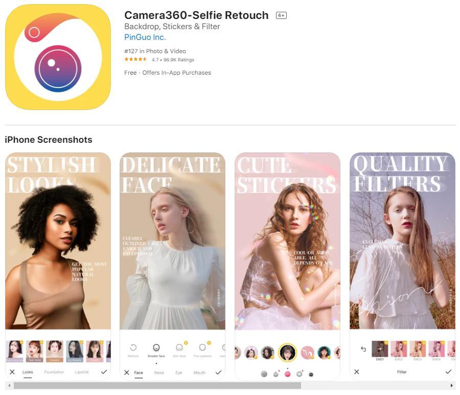 Ứng dụng chụp ảnh 3D trên Iphone Camera360