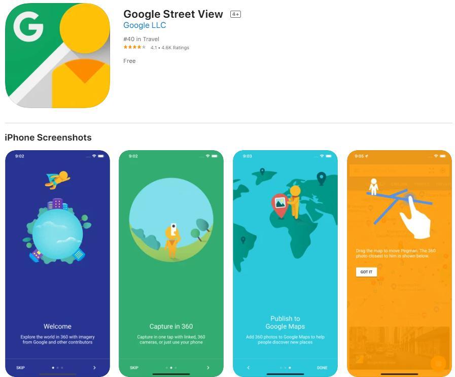 App chụp ảnh chất lượng Google Street View