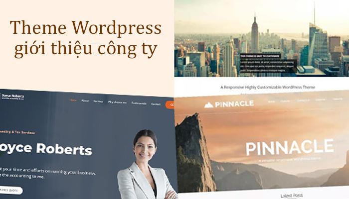 Top 10 mẫu theme wordpress giới thiệu công ty chuyên nghiệp nhất