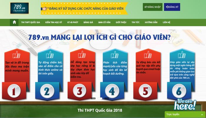 Phần mềm thi online - 789.vn